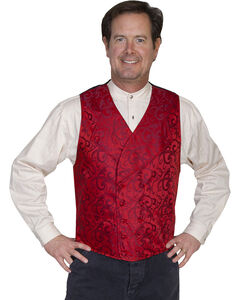 Rangewear by Scully Vine Scroll Vest, Red, hi-res