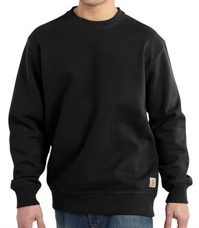 Carhartt Rain Defender Paxton Heavyweight Sweatshirt - Big & Tall, Black, hi-res