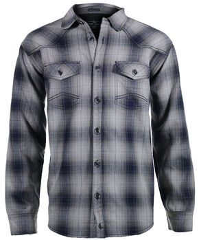 Cody James Men's Whistler Grey Plaid Flannel Shirt, Grey, hi-res