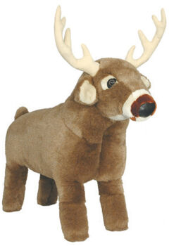 Carstens Home White Tail Deer Footstool, , hi-res