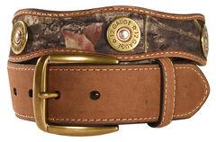 Nocona Mossy Oak Camo 12 Gauge Shotgun Shell Belt, , hi-res