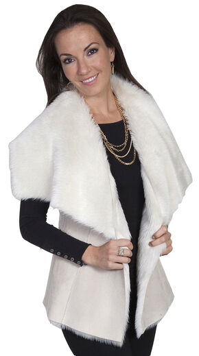 Scully Women's Cream Faux Fur Vest, Cream, hi-res