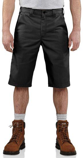 Carhartt Cell Phone Twill Work Shorts, Black, hi-res