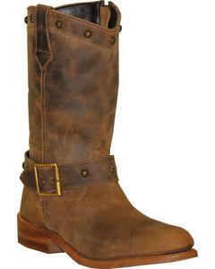 Abilene Sage Brown Strap Wellington Boots - Round Toe , , hi-res