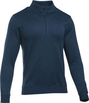 Under Armour Men's Navy Storm Sweater Fleece 1/4 Zip Pullover , Navy, hi-res