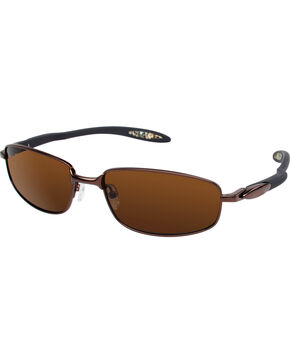 Realtree Men's Brown Xtra® Camo Extended Headroom Polarized Lens Sunglasses , Brown, hi-res