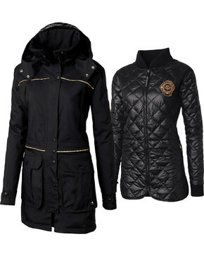 Mountain Horse Women's Wyndham 3 in 1 Coat, Black, hi-res