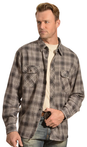 Woolrich Miners Wash Charcoal Plaid Flannel Shirt, Charcoal Grey, hi-res