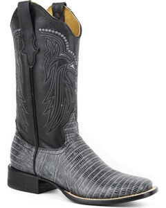 Roper Lizzy Faux Teju Lizard Cowgirl Boots - Square Toe, , hi-res