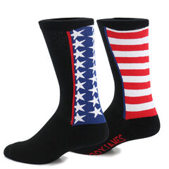 Cody James Men's American Flag Crew Socks, , hi-res