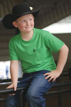 Cinch Boy's Green Graphic Print Short Sleeve T-Shirt, , hi-res