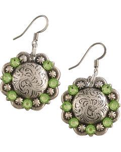 Julie Rose Filigree Concho Dangly Earrings, , hi-res