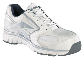 Reebok Men's Senexis Athletic Oxford Work Shoes - Composition Toe, White, hi-res