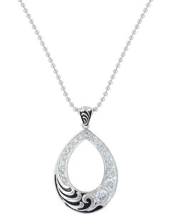 Montana Silversmiths Women's Winter's Whispering Winds Teardrop Necklace , , hi-res