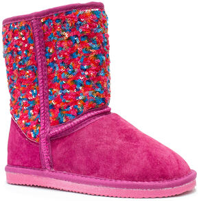 Lamo Footwear Girl's Sequin Pattern Boots , Multi, hi-res