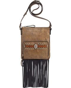 American West Moon Dancer Rustic Brown Crossbody Bag, , hi-res