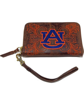 Gameday Boots Auburn University Leather Wristlet, Brass, hi-res