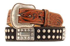 Nocona Nailhead Rectangle Concho Belt, , hi-res