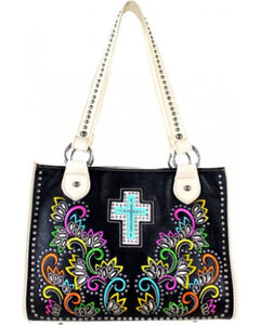 Montana West Cut Out Patten with Embroidery Spiritual Collection Handbag, , hi-res