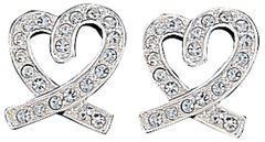 Montana Silversmiths Rhinestone Heart Earrings, , hi-res