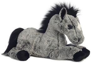 Aurora World Lucky the Horse Western Plush Toy , Black, hi-res