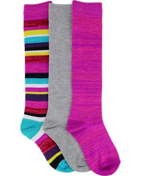 La De Da Girls' Pack of Three Knee High Socks, No Color, hi-res