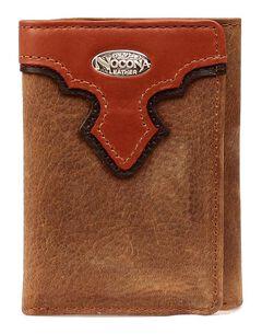 Nocona Copper Grizzly Tri-Fold Wallet, , hi-res
