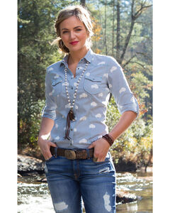Ryan Michael Women's Buffalo Print Shirt , , hi-res