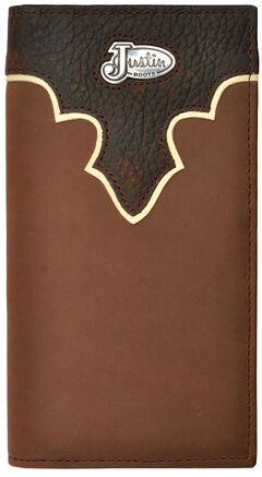 Justin Leather Overlay & Concho Rodeo Wallet, , hi-res