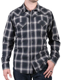 Cody James Men's Pyrite Black Plaid Shirt, , hi-res