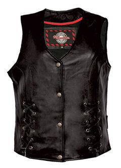 Interstate Leather Women's Dixie Vest - Plus, , hi-res