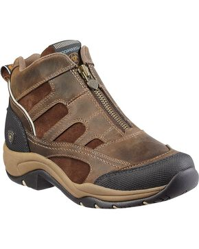 Ariat Women's Waterproof Zip-Up Terrain Shoes, Brown, hi-res