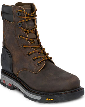 Justin Men's 8 Inch Lace Up Commander X5 Work Boot - Composite Toe, Brown, hi-res