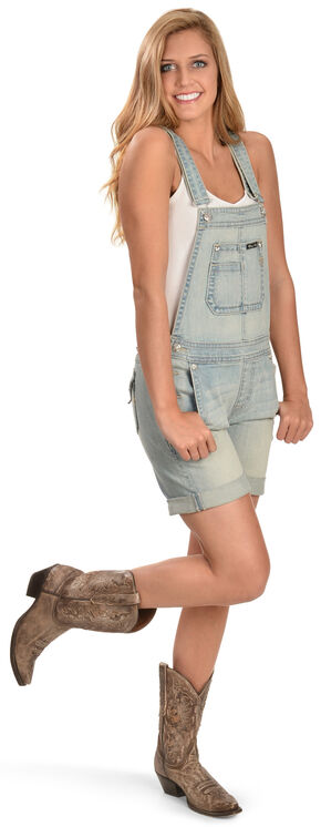 Miss Me Denim Short Overalls, Denim, hi-res