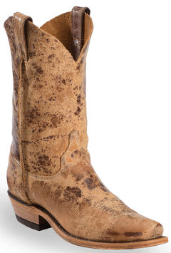 Justin Distressed Cowboy Boots - Narrow Square Toe, , hi-res