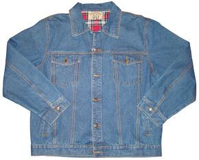 Vintage Leather North 40 Men's Flannel Lined Denim Jacket, Med Blue, hi-res