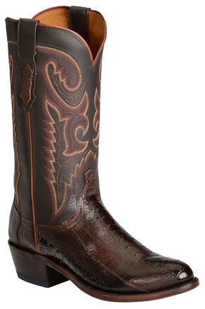 Lucchese Handcrafted 1883 Ostrich Leg Western Cowboy Boots - Medium Toe, Sienna, hi-res