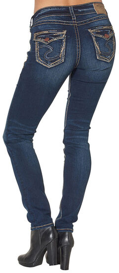 Silver Women's Suki Mid Skinny Jeans - Plus Size, , hi-res