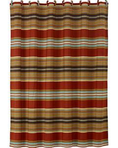 HiEnd Accents Calhoun Striped Shower Curtain, , hi-res