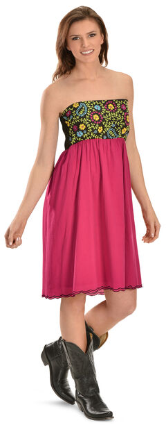 R Cinco Ranch Driscoll Pink Embroidered Dress, , hi-res