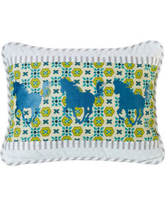 HiEnd Accents Multi Horse Embroidery Pillow, , hi-res