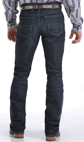 Cinch Men's Indigo Mid-Rise Dark Stonewash Ian Jeans - Boot Cut, Indigo, hi-res