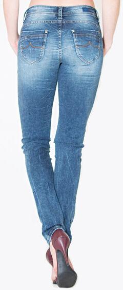 Grace in LA Women's Medium Wash Plain Pocket Skinny Jeans  , , hi-res