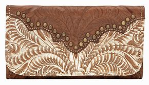 American West Annie's Secret Tri-fold Wallet, Cream, hi-res