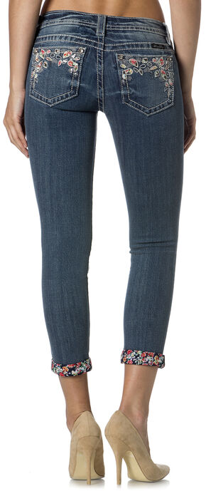 Miss Me Women's Party Treasure Cuffed Skinny Jeans, Denim, hi-res