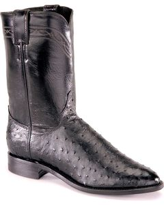 Justin Full Quill Ostrich Roper Boots - Medium Toe, , hi-res