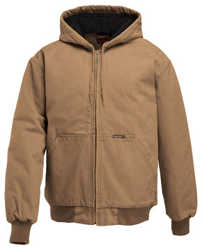 Wolverine Houston Hooded Jacket, Brown, hi-res