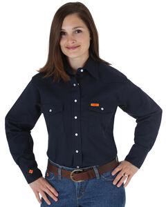 Wrangler Women's Lightweight Flame Resistant Long Sleeve Shirt, , hi-res