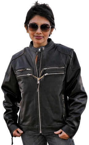 Interstate Leather Gangster Jacket - XL, Black, hi-res