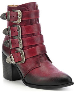 Circle G Buckled Ankle Boots - Round Toe, , hi-res